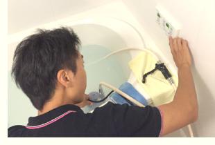 プロによる特殊な方法で洗浄します。